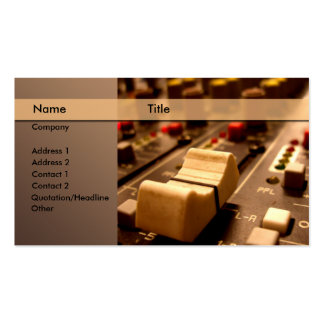 Sound \ music \ producer \ mixer business card templates
