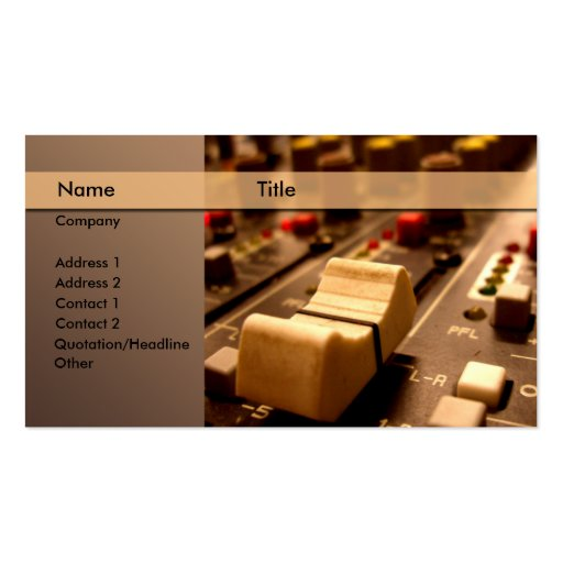 Sound \ music \ producer \ mixer business card templates