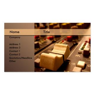 Sound music producer mixer business card templates
