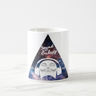 Sound of the Galaxy w/ Man in Headphone Coffee Mug