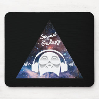 Sound of the Galaxy w/ Man in Headphone Mouse Pad