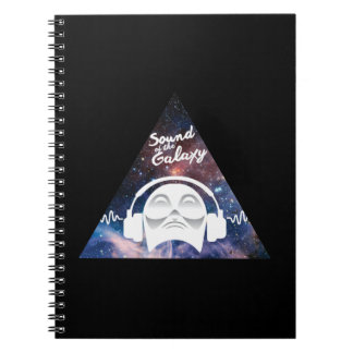 Sound of the Galaxy w/ Man in Headphone Notebooks