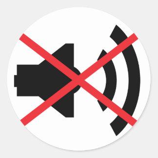 🔊 sound off 🔇 round sticker