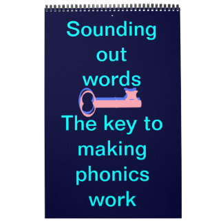 Sound out words phonics wall calendars