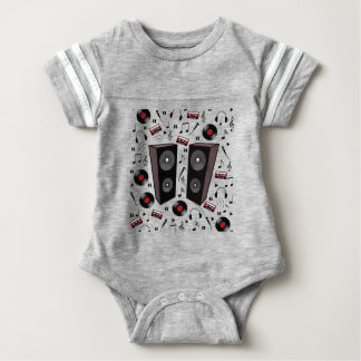 Sound pattern baby bodysuit