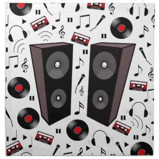 Sound pattern napkin
