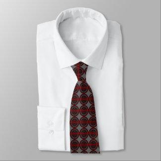 Sound Red Dark tie tiled grey
