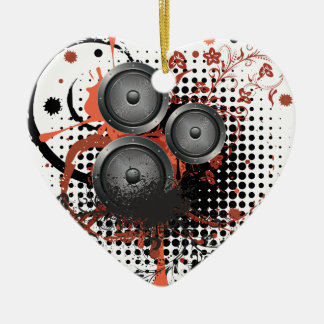 Sound Speaker with Floral Ceramic Heart Ornament