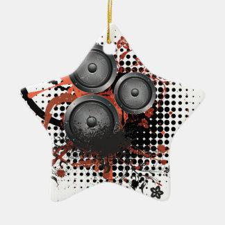 Sound Speaker with Floral Ceramic Star Ornament