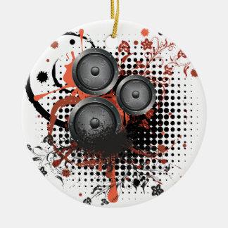 Sound Speaker with Floral Round Ceramic Ornament