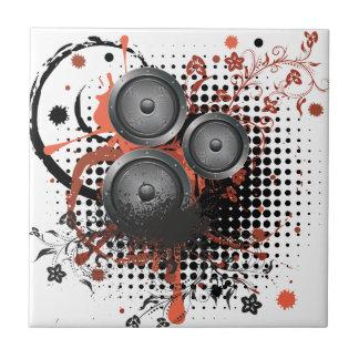 Sound Speaker with Floral Tiles