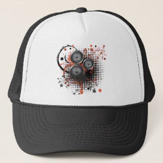 Sound Speaker with Floral Trucker Hat