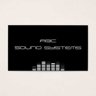 """Sound Systems"" Business Card"