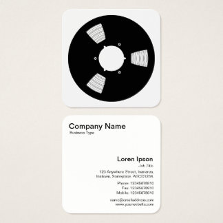 Sound Tape Spool 02 Square Business Card