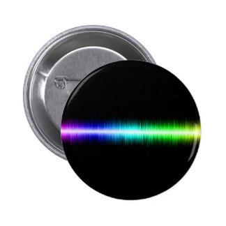 Sound Waves Design 2 Inch Round Button