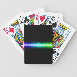Sound Waves Design Bicycle Playing Cards