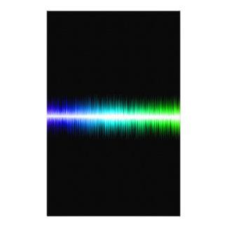 Sound Waves Design Customized Stationery