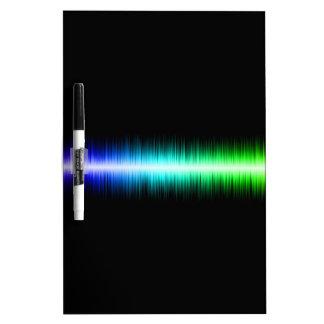 Sound Waves Design Dry Erase White Board