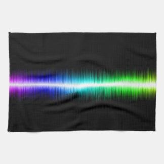 Sound Waves Design Kitchen Towels