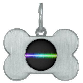 Sound Waves Design Pet ID Tags