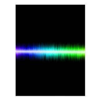 Sound Waves Design Postcard