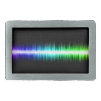 Sound Waves Design Rectangular Belt Buckle