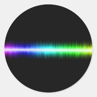 Sound Waves Design Round Sticker