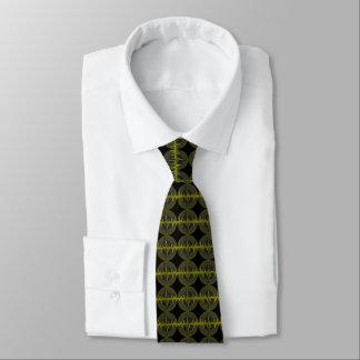 Sound Yellow Dark tie tiled black