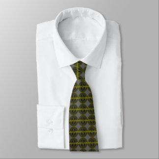 Sound Yellow Dark tie tiled grey