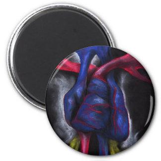 Sounds Of A Blue Heart Anatomical Human Organ Art Magnet