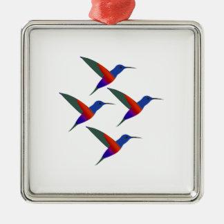 Sounds of Music Silver-Colored Square Ornament
