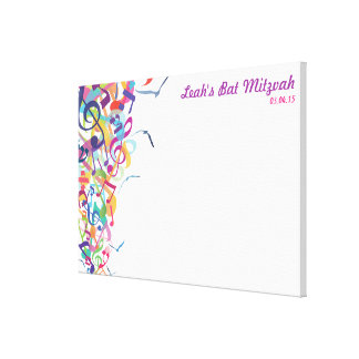 SOUNDS OF THE TORAH Bat Mitzvah Sign-In Board Canvas Print