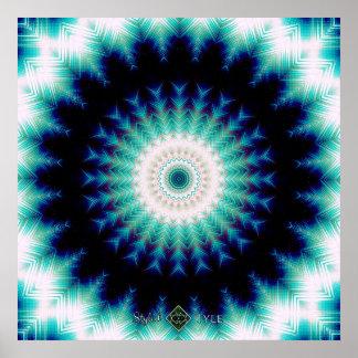 Soundwave Mandala Poster