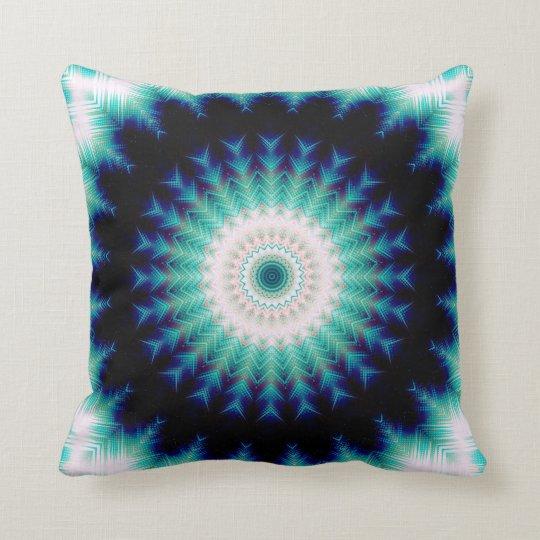 Soundwave Mandala Throw Pillow