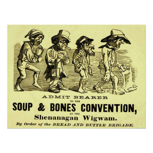 Soup and Bones Convention. Print