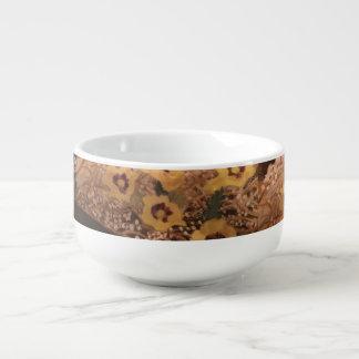 Soup Bowl /Still Life Flowers with a log Soup Mug