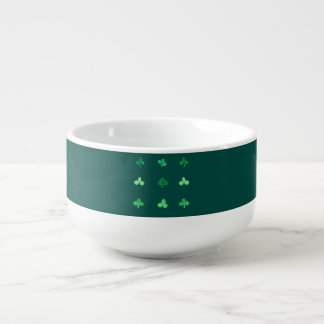 Soup mug with nine clover leaves
