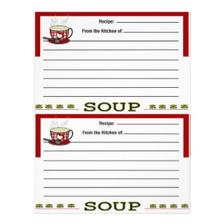 Soup Recipe Pages for Recipe Binder