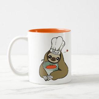 Soup Sloth with Chef Hat Mug