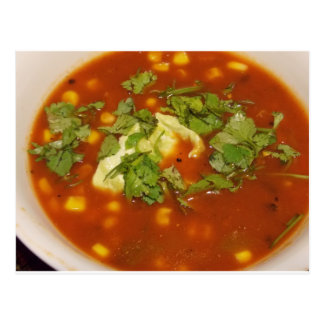 Soup with Cilantro Card Postcard