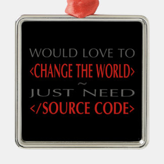 Source Code Metal Ornament