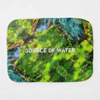 Source Of Water Burp Cloth