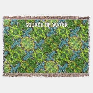 Source Of Water Throw Blanket