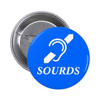 Sourds 2 Inch Round Button