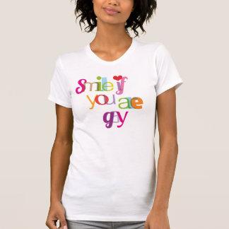 Souriez si vous êtes T-shirt gai de filles de
