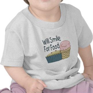 Sourira pour la nourriture t-shirts