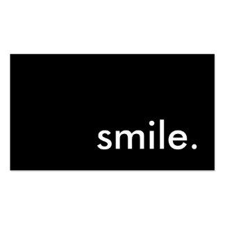 sourire modèle de carte de visite