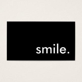 sourire cartes de visite
