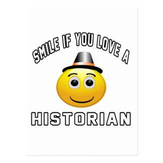 sourire si vous aimez un historien carte postale