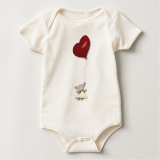 SouriZette&HeartBalloon Baby Bodysuit
